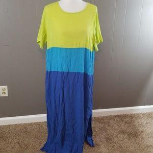 Diane Von Furstenberg color block dress size 2x